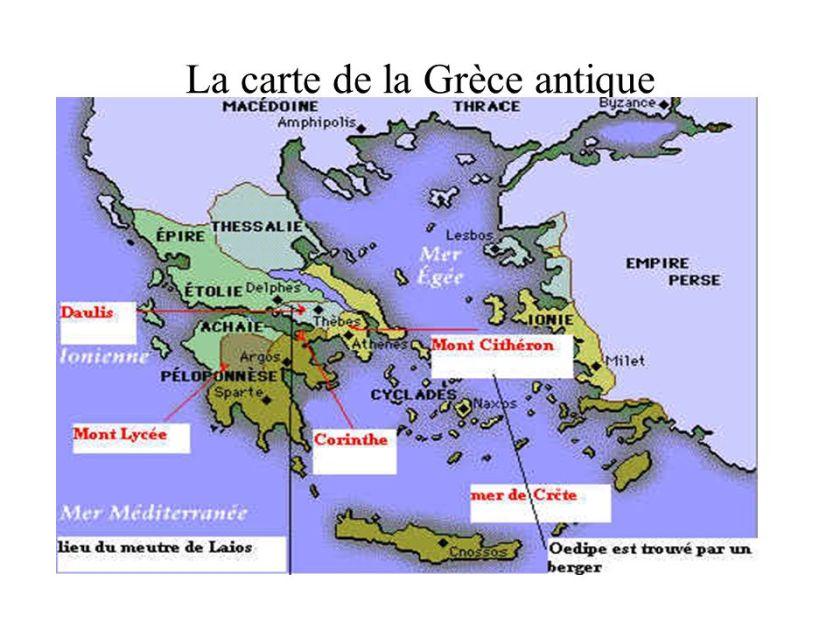 La carte de la Grèce antique
