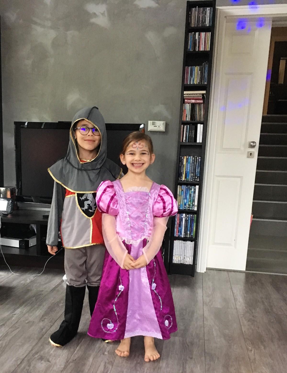 Une fête d'anniversaire moitié Princesses – moitié Halloween ~ Anaé 5ans